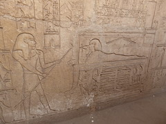 Re-Animation Scene, Tomb of Shoshenq III, Tanis (Aidan McRae Thomson) Tags: tanis tomb relief carving ancient egyptian egypt archaeological site