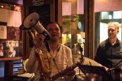 20180505_0117_1 (Bruce McPherson) Tags: brucemcphersonphotography terminalcitybrassband ouisibistro livemusic livejazz livejazzmusic brassband smallvenue granvillerise vancouver bc canada cajunfood