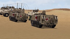 Do No Harm (7th Cavalry Combat Camera) Tags: 7th cavalry gaming regiment milsim arma 3 ambulance m113 armored personnel carrier operation desert