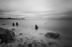 Three Amigos! (Fine Art Long Exposure Black & White Photography) Tags: fineart blackandwhite monochrome longexposure threeamigos water sea seascape nature colwynbay northwales unitedkingdom