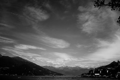 Sky over Lake Como (stefankamert) Tags: stefankamert sky clouds mountains lake lakecomo lagodicomo bellagio italy noir noiretblanc blackandwhite blackwhite landscape sony rx1 rx1r fullframe mirrorless zeiss
