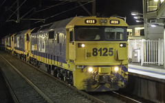 Pacific National loco 8125, with 8165-8127-8111 as 9835 (Paulie's Time Off Photography) Tags: 9835 freighttrain locomotive8125 night pacificnational werringtonnsw 8125 railpage:class=47 railpage:loco=8125 rpaunsw81class rpaunsw81class8125 olympus olympusomdem10 paulleader trainspotting train locomotive loco engine diesel railway rail railroad railtransport transport transportation freight nsw newsouthwales australia