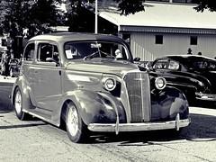 '37 in B&W...HSS (novice09) Tags: backtothefifties carshow chevrolet 1937 sedan streetrod blackwhite monochrome photoscape ipiccy slidersunday hss