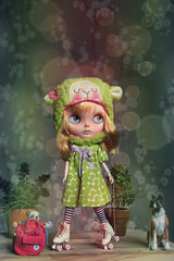 When it rains outside, you have to roll on skates at home. (.Iuliania.) Tags: blythe customblythe custom jilliansdream