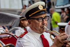 In the mood (kurjuz) Tags: malta qormiband trumpetplayer concentration festa glasses marchingband mood portait red streetphoto uniform ħamrun
