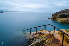 Tranquility at the Forty Foot, Dublin (Helen Mulvey) Tags: ireland d5100 nikon leadinglines tranquil calm sunrise dawn landscape waterscape longexposure tide sea seascape dublin fortyfoot