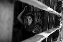 B&W (@Dpalichorov) Tags: portrait portraite women girl beautifull gorgeus handsome sexy monochrome outside varna bulgaria blur grids bars nikond3200 nikon d3200 blackandwhite bw bandw blackwhite bwportrait bwportraite