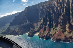 Island Helicopter Kauai (Sonarsgs) Tags: travel helicopter flying volcano beauty napali pacificocean