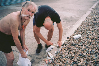 Dave and Paul gutting fish