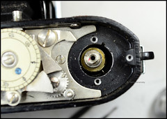 Certo Dollina II Repair Notes (29) (Hans Kerensky) Tags: certo dollina ii rangefinder folder repair removed shoulder transport axle