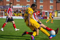 Altrincham FC vs Boston United - August 2018-141 (MichaelRipleyPhotography) Tags: altrincham altrinchamfc altrinchamfootballclub alty ball bostonunited community fans football footy goal header jdavidsonstadium kick mosslane nationalleaguenorth nonleague pass pitch preseason referee robins salfordcity save score semiprofessional shot soccer stadium supporters tackle team vanarama