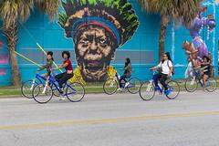 Houston TX (grexsysllc) Tags: beauty ladies houston htown texas mural art paint people peoplewatching bikes nikon nikonphotography nikonphtography graffiti blue houstontexas bike road