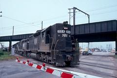 N&W SD35 at Burnham IL by Harv kahn, slide  1554371329 (Ray Tutaj Jr) Tags: nw harv kahn