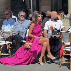 'When I have to drink a cocktail I always get dressed up ' (pivapao's citylife flavors) Tags: paris france people girl louvre beauties shop
