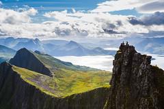 Husfjellet (Asbjørn Anders1) Tags: husfjellet senja mountain mountainside sea ocean sky clouds hiking mountainhiking northernnorway norway