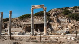 KNIDOS  (Cnidus) Ancient City  Datça  Turkey. Stoa Columns.
