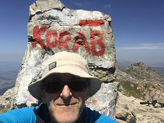 Highest selfie in Albania and Macedonia (ramblingjohn) Tags: macedonia македонија trekking balkans ke adventure albania shqipëria shqipni