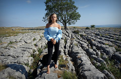 Nature Boy (plot19) Tags: love nature boy family fashion fasion light landscape liv olivia daughter dales yorkshire england english north northern sony rx100 lone tree limestone rock rocks