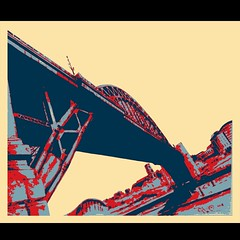 Tyne bridge Newcastle!! (GP1805) Tags: artwork art artist draw drawing ink inkdrawing derwent winsorandnewton fabercastell tynebridge tyne newcastle popart sketchbookpro sketch blue red cream