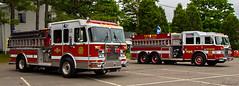 Engine 5 Tanker 6 West Milford NJ_1649 (smack53) Tags: smack53 firetrucks fireapparatus piercepumper piercefireapparatus piercerescue pumper rescuetruck tanker pumpertanker westmilford newjersey parade springtime spring nikon d3100 nikond3100