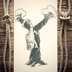 Yameleon (reXraXon) Tags: art artwork pencilart drawing handdrawing sketch pencilsketch typography lettering handlettering letteringart chameleon tree