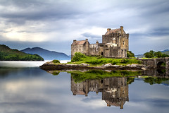 Eilean Donan Castle (Danny Shrode) Tags: scotland castle water building reflection uk highland outdoor isleofskye landscape sky grass