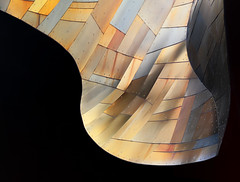 Ripple (studioferullo) Tags: abstract architecture art beauty bright building colorful colourful colors colours contrast dark design detail edge light metal minimalism outdoor outside perspective pattern pretty scene shadow study sunlight sunshine street texture tone world tile lines mosaic gehry mopop museum culture seattle washington curve glow