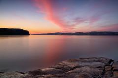 Matin calme sur La Baie (gaudreaultnormand) Tags: canada leverdesoleil longexposure longueexposition quebec saguenay sunrise ciel montagne eau pierre paysage calme baie