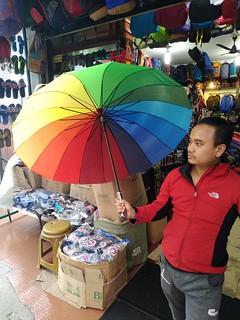 Seller of unbrellas