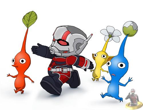 Art Shenanigans: Ant-Man X Pikmin