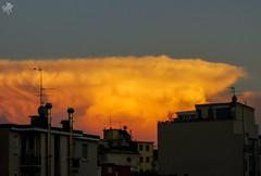Supercella. Milano (diegoavanzi) Tags: milano milan italia italy nuvole clouds supercell cielo sky sony hx300 bridge tramonto sunset
