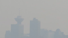 Today's air quality = blechhh (Reva G) Tags: smoke smog fog haze grey pollution vancouver skyline environment sky