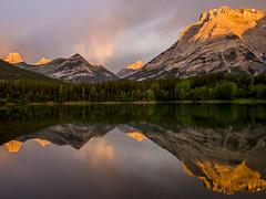 Wedge Pond, sunrise, (birgitmischewski) Tags: wedgepond kananaskiscountry alberta