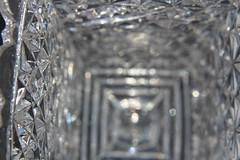 Antique vase macro (hopedorman) Tags: macro macrophotography upclose detail glass clear translucent lines crystal vase antique candleholder jar