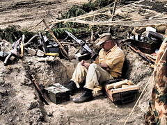 YWE2018 (clarks666) Tags: reenactors warfare history military conflict war 20thcentury trench german uniform weapons ww2 afrikakorps ywe2018 army