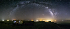 Camping Under the Milky Way at Niland Marina at the Salton Sea (slworking2) Tags: niland california unitedstates us nilandmarina rv trailer camper camping panorama milkyway night stars sky saltonsea
