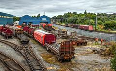 66061 ready to leave Stoke Marcroft (robmcrorie) Tags: stoke trent mar croft wagon repair yard biomass protoype engineering services rail staffordshire 66061 arpley marcroft nikon d850 train railway enthusiast railfan