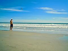 beach in blue  ....  LISTEN: (Shein Die) Tags: beach sand ocean blue south bird nature