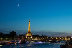 Tour Eiffel et Pont Alexandre III - Eiffel Tower and Alexander III Bridge (ManuS UWPhotos) Tags: longexposure denuit paris eiffeltower d7200