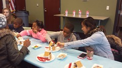 20161210_130930 (ypsidistrictlibrary) Tags: gingerbreadhouses gingerbread candy kids annual xmas christmas ydlwhittaker