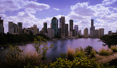 Brisbane City (Lisa M / /) Tags: brisbane brisbanecity city river queensland qld australis skyline