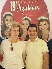 18/08/18 - Festa das Azaléias em Araricá. Com o vereador Oseas Garcia.