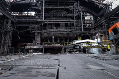 Blast Furnace (Hooismans) Tags: abandoned abandon abandonné abandonnée abbandonato abbandonata ancien ancienne alone architecture explorationurbaine exploration explore exploring empty explo explored distillery trespassing rust rusty ruins rotten urbex urban urbain urbaine urbanexploration interdit interior inside inexplore old past photography decay decaying derelict dust decayed dusty forgotten forbidden lost light nobody neglected building verlassen creepy huge industrial factory ceiling people arch road sign tree sky power plant powerplant 70kv belgium control room controlroom controlpanel verlaten verlatengebouw urbexbe grass locomotive bridge