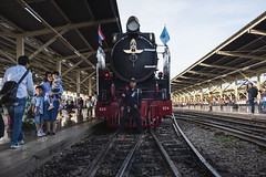 Steam locomotive in Thailand (Flutechill) Tags: bangkok bangkokrailway bangkokrailwaystation locomotive hualamphong stream traveldestinations steamtrain people editorial train transportation crowd men urbanscene passenger commuter station modeoftransport groupofpeople citylife cultures travel peopletraveling publictransportation subwaystation rushhour railroadstationplatform railroadtrack railroadstation old oldfashioned steam steel industry railroadcar retrostyled history engine