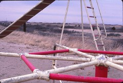 Cape Cod 1985 (Meredith Jacobson Marciano) Tags: capecod beach slide playground 1980s analog offseason kodachrome
