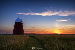 Halnaker sunset (Christian Lawrence Photography) Tags: halnaker west sussex sunset windmill xt2 landscape field clouds contrail