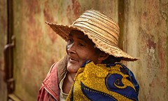 Railway Woman (Rod Waddington) Tags: africa african afrique afrika madagascar malagasy woman hat railway carriage outdoor culture cultural ethnic ethnicity candid train