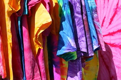 Tie-dyed T-shirts for sale (Jon Dev) Tags: clothing fabric boldcolours