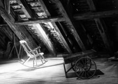 Old attic / Старый чердак (dmilokt) Tags: чб bw черный белый black white натюрморт stilllife dmilokt