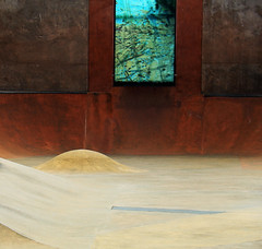 Bumpy Ride (studioferullo) Tags: abstract architecture art beauty bright colorful colourful colors colours contrast dark design detail edge light minimalism outdoor outside perspective pattern pretty scene study texture tone weathered skatepark seattle washington curve lines